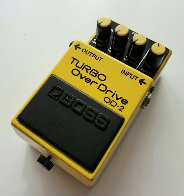 1987 Boss OD-2 Turbo Overdrive Japanese Vintage Effects Pedal MIJ