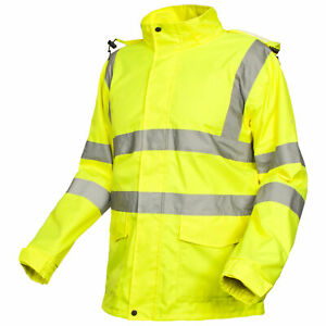 Trespass-Beckon-Mens-Hi-Vis-Reflective-Rain-Coat-Waterproof-Hooded-Jacket