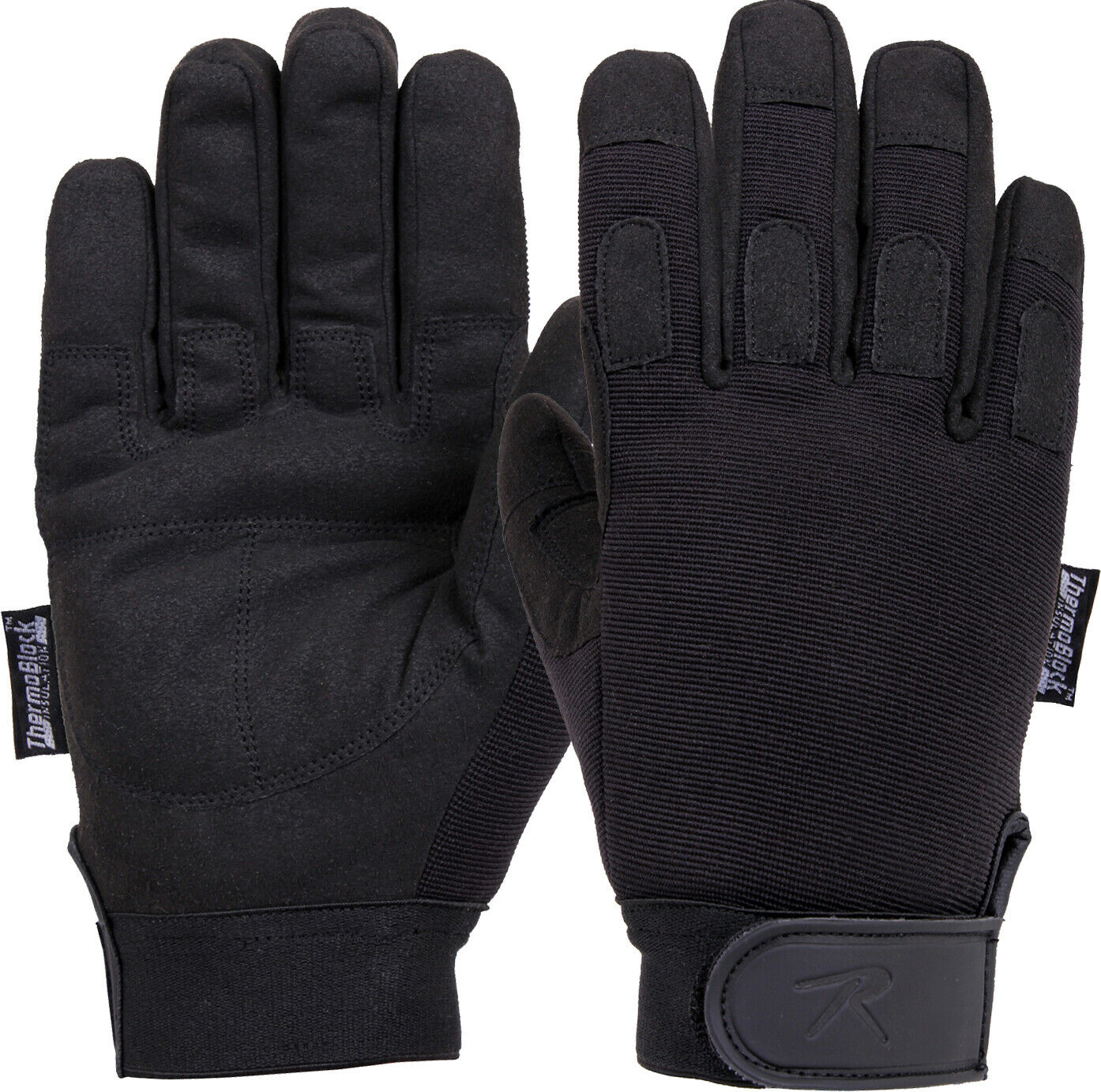 Black All Purpose Insulated Cold Weather Gloves