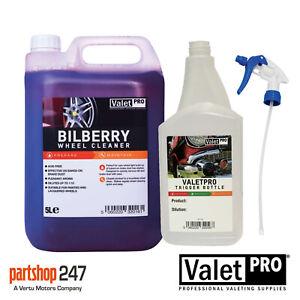 ValetPro Bilberry Alloy Wheel Cleaner 5L 5 Litre With Free 1 Litre Spray Bottle