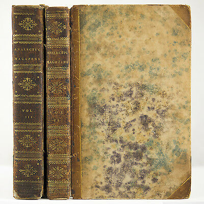 1814 ANALECTIC MAGAZINE PHRENOLOGY PIRATES INDIANS WAR OF 1812 NAVY BATTLE SHIPS