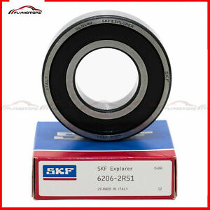 1-Pcs-SKF-6206-2RS1-Rubber-Seals-Ball-Bearing-1-3-16-034-Bore-Made-in-ITALY-2RS-NSK