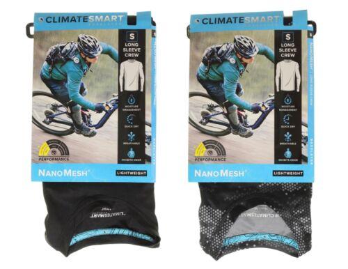 ClimateSmart Men/'s Lightweight NanoMesh Base Layer Long Sleeve Crew Shirt Top