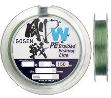 Gosen W 25lb/150m PE Braided Fishing Line (Green) - Made in Japan