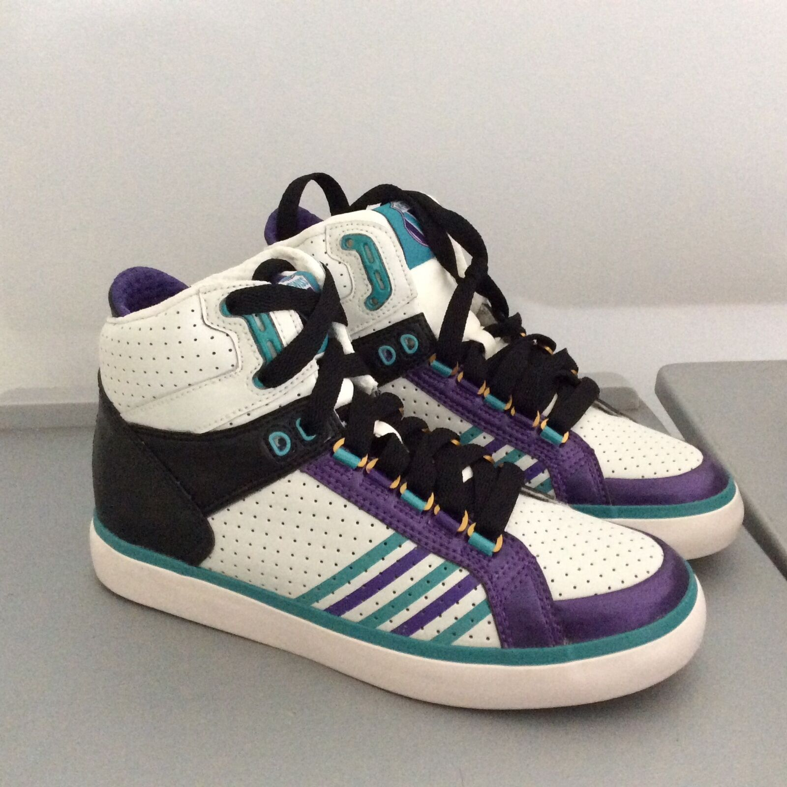 K Swiss Venezien Damen Schuhe Loe 5 1 2 M Weiß Türkis Lila Athletic Neu