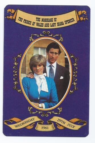 #100.007 vintage swap card NEAR MINT Prince Charles /& Princess Diana on purple