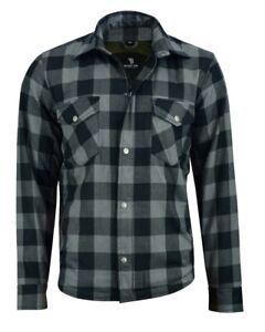 BUSA-Motorcycle-Grey-Shirt-FULLY-Protective-Made-With-Kevlar-Lining-amp-Armour