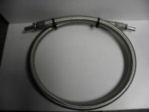 Braided stainless Vacuum/Pressure hose 3 ft. Compression or clamp