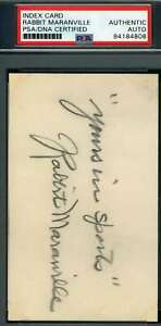 Rabbit-Maranville-PSA-DNA-Coa-Autograph-Hand-Signed-3x5-Index-Card
