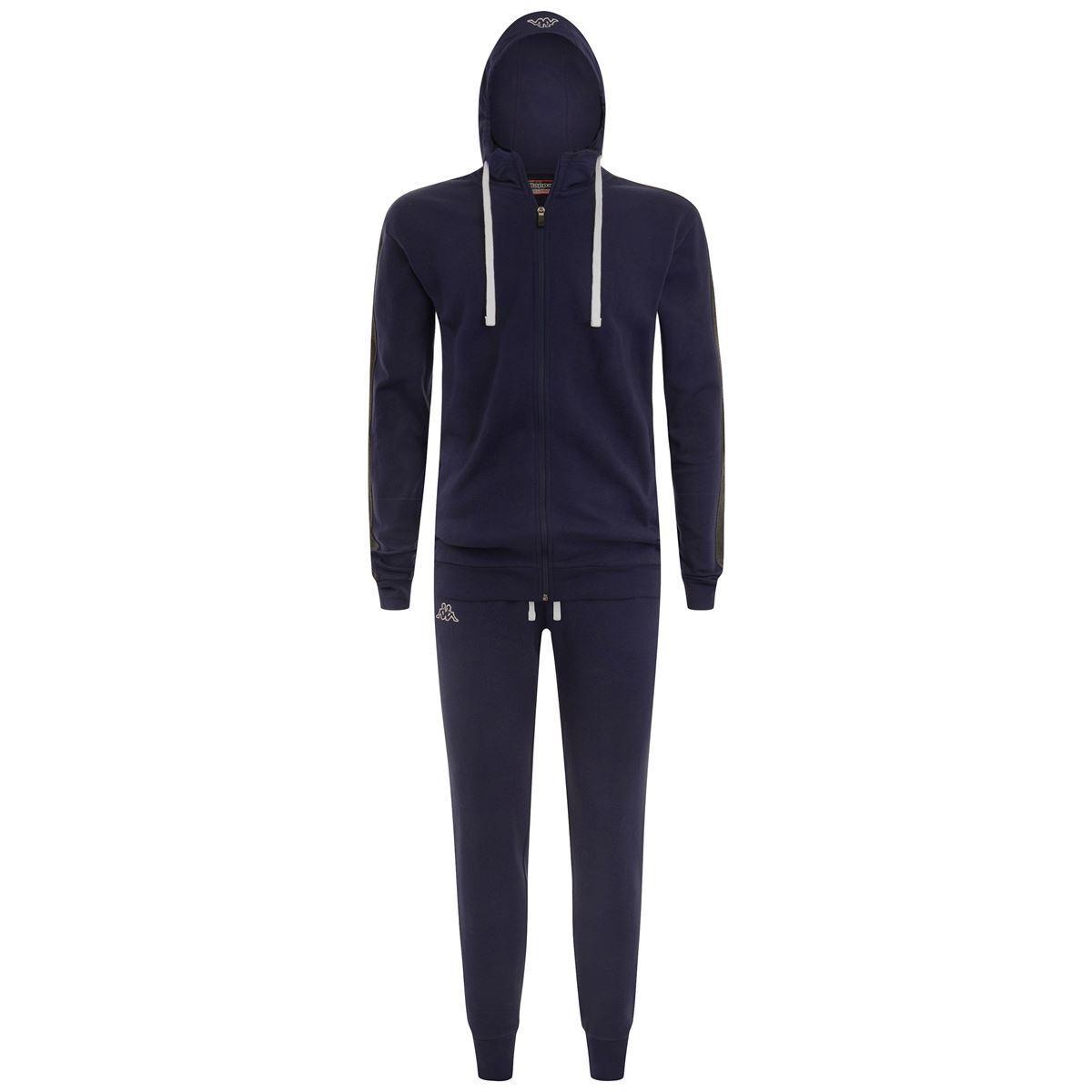 Kappa Suit Tuta Sportiva Slim Fit da Uomo Felpa Cappuccio Training  303ZEE0 900