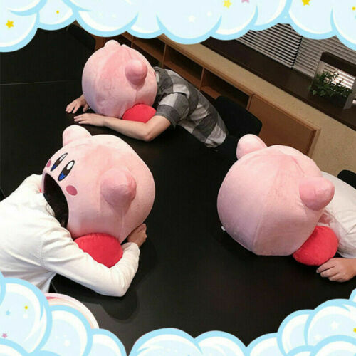 Kirby Plush Cat Bed Pillow Sleep Kawaii Anime Game Kirby Pets Pillow Gift Toy