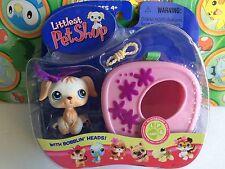 Littlest Pet Shop Set Pack #140 Golden Retriever dog puppy carry case portable