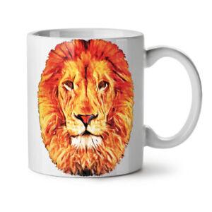 Lion Face Calm Animal NEW White Tea Coffee Mug 11 oz   Wellcoda