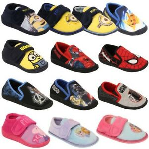 e98b6f1938 Boys Girls Shoes Minion Kids Trainers Star Wars Disney Spiderman ...