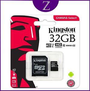 KINGSTON MICRO SD SDHC Memory Card Class 10 UHS-I 32GB VERSION