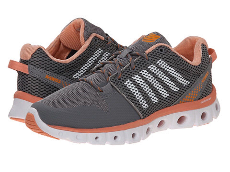 K-SWISS 93438-093 X LITE CMF Wmn's (M) Sti Grey Papaya Pun Mesh Athletic shoes