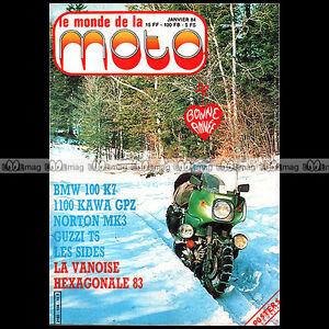 Alerte Le Monde De La Moto N°108-b Honda Xlv 750 Jawa 250 Motobecane H2 Bmw K100 1984