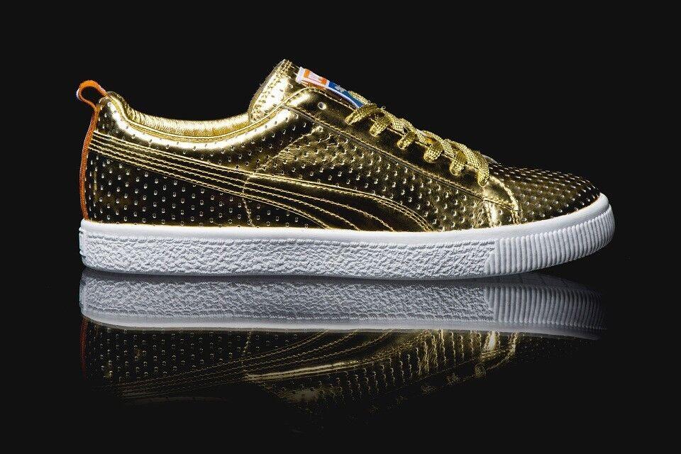 Puma X Walt  Clyde  Frazier Clyde gold Metallic All Star Size 10360646-01