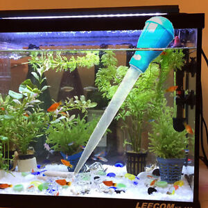 how to clean a fish tank water