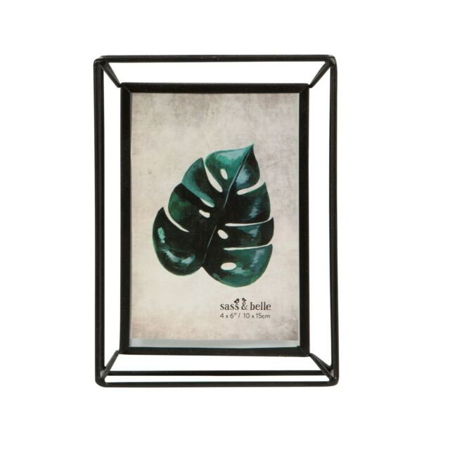 Sass & Belle Metal Iron Standing Photo Frame Leaf Portrait Picture 4 ...