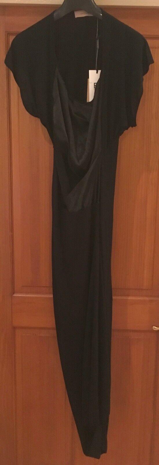 PREEN LINE Long schwarz 'Serpant' Silk Viscose Dress Größe S BNWT NEW