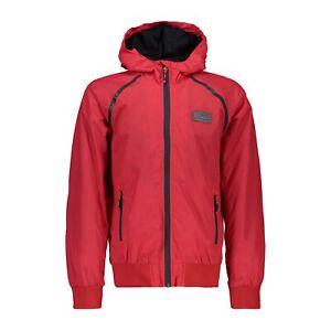 """Cmp Fonction Veste Boy Jacket Fix Hood Rouge Imperméable Unicolore Ripstop Robuste-d Unifarben Ripstop"""" afficher Le Titre D'origine"""