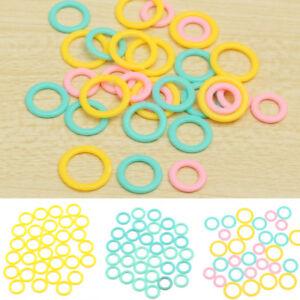 Colorful Split Ring Stitch Marker DIY Crochet Knitting Tool Supplies 30 Pcs//Set