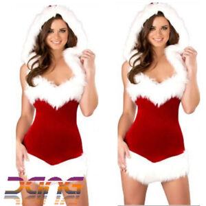 Image is loading Sexy-Christmas-Santa-Costume-Xmas-Party-Fancy-Dress- 2514080378c4