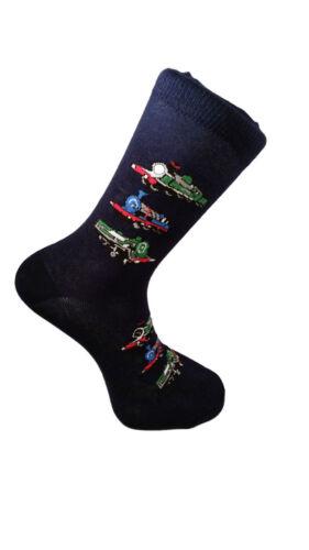 Britische Dampfeisenbahn Unisex Neuheit Knöchel Erwachsene UK Größe 6-11 Socken