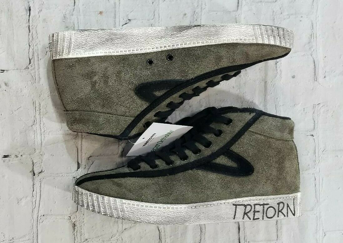 NEW Tretorn 1891 Sweden MTNyliteHi21 Leather Mid-Top Fashion Sneaker MENS SZ 8