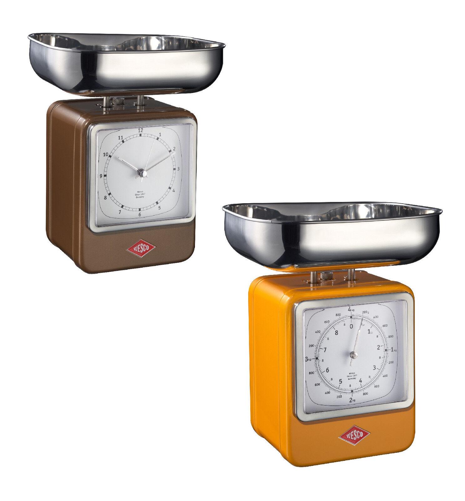 WESCO BALANCE de cuisine avec horloge de cuisine rétro métal balance montre à