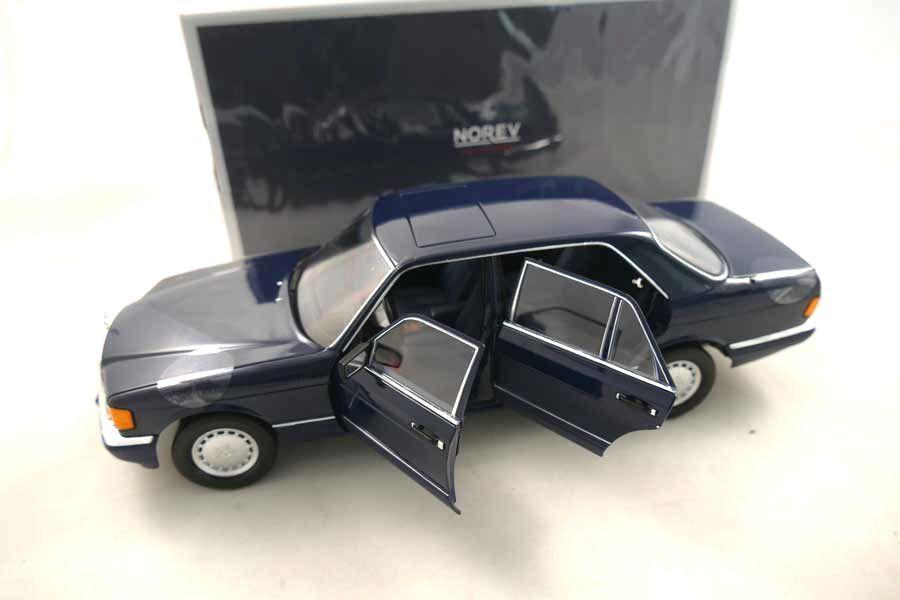 Mercedes - benz s-klasse w126 blau blau 560 sel 1991 norev nur 1,18 rar
