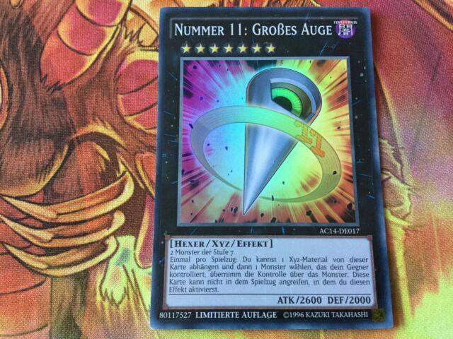 3x Nummer 53:Heart-Earth AC14-DE002 SUPER RARE DEUTSCH Playset NM Yu-Gi-Oh