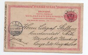 1904 Lettre Suede Arlof Pour Allemagne A Voir