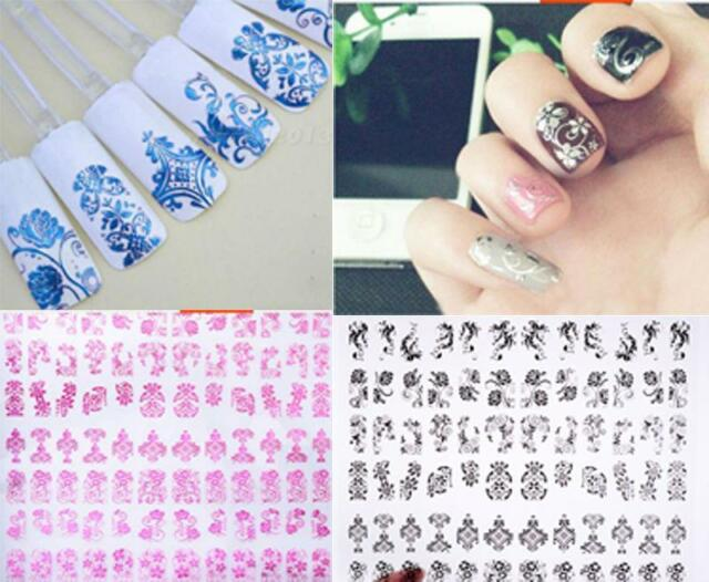 108Pcs 3D Flower Nail Art Stickers Decals Stamping Decoration Tools Fashion Hot