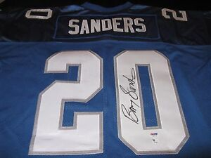 b8e5478b213 Image is loading Barry-Sanders-Detroit-Lions-Signed-Authentic-Puma-Jersey-