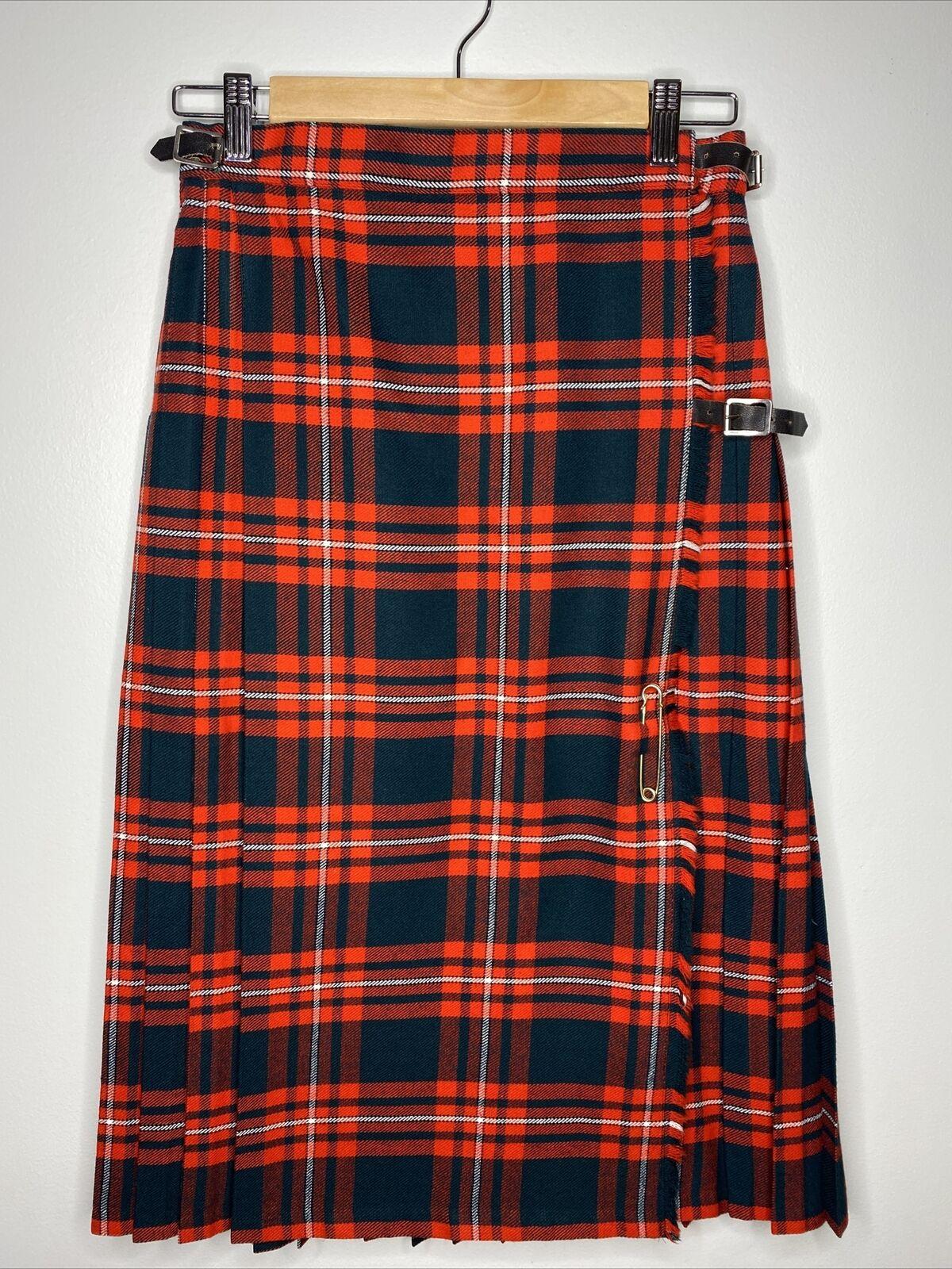 Ugly Christmas Skirt Wool Plaid Skirt