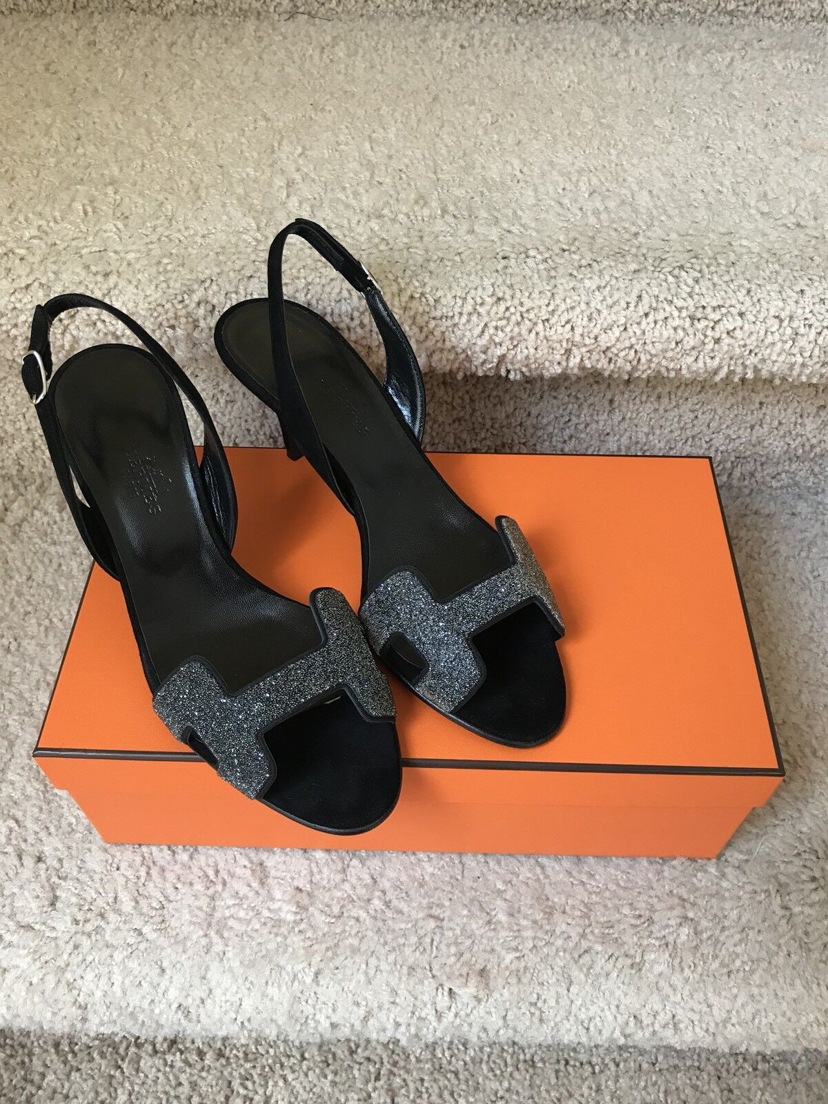Brand New Hermes Night Crystal Sandals 35.5. Retail  1300