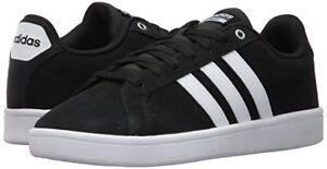 Man Adidas CF Advantage Sneakers B74226 Black/White/Matte Silver Brand NEW
