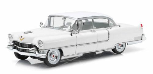 Grünlight 1955 cadillac fleetwood series 60 1   18 weiße mit weißem dach 12938 12