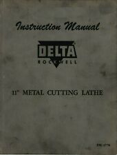 Delta Rockwell 11 Inch Metal Cutting Lathe Instruction Manual Pm 1778