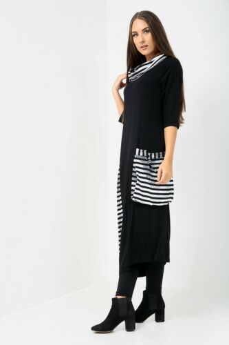 Oringo Lagenlook unusual maxi dress with pocket one side