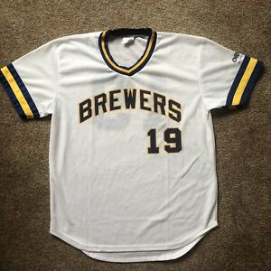 size 40 bc278 d5ba2 Details about Brewers Robin Yount Jersey Adult M Baseball Shirt