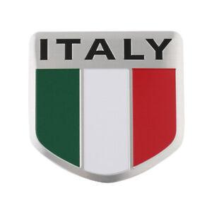 Car Auto ITALY Italian Flag Pattern Shield 3D Emblem Badge Decal Sticker Metal R