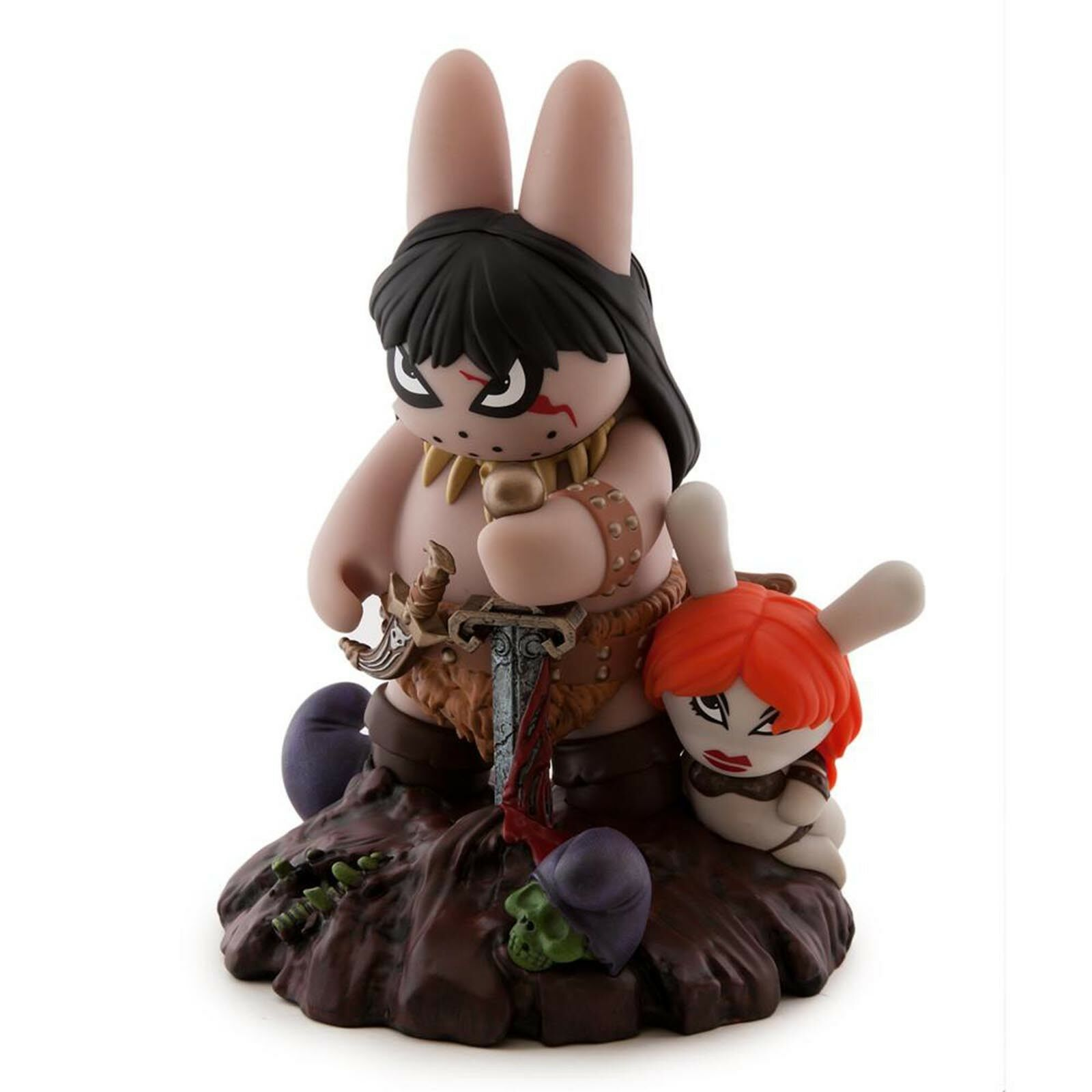 Kidrobot Frazetta Conan The Barbarian Labbit 8 Inch Figure NEW Frank Kozik Art
