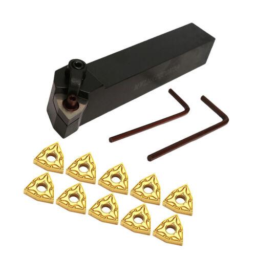 Black CNC Metal Lathe Turning Tools Holder Bit Set with Carbide Inserts