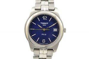 Vintage-Tissot-1853-PR50-Stainless-Steel-Mens-Quartz-Watch-486