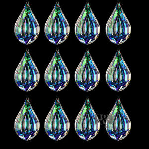 Colorful glass crystal loquat shape chandelier prisms hanging drops image is loading colorful glass crystal loquat shape chandelier prisms hanging aloadofball Images