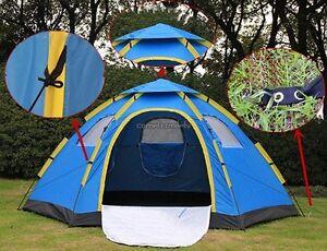 Image is loading Waterproof-C&ing-Hiking-6-Person-Automatic-Setup-Pop- & Waterproof Camping Hiking 6 Person Automatic Setup Pop Up Family ...
