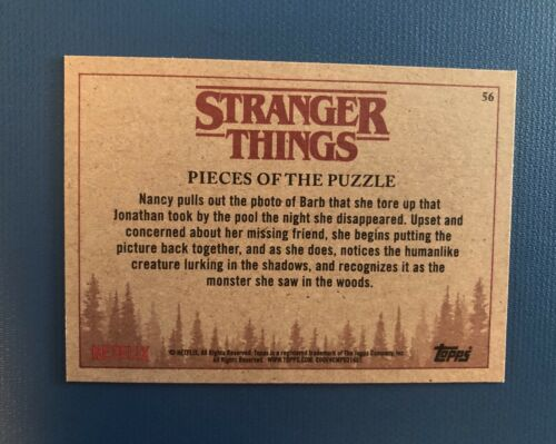 """Stranger Things Trading Cards #56 """"Pieces Of The Puzzle"""""""